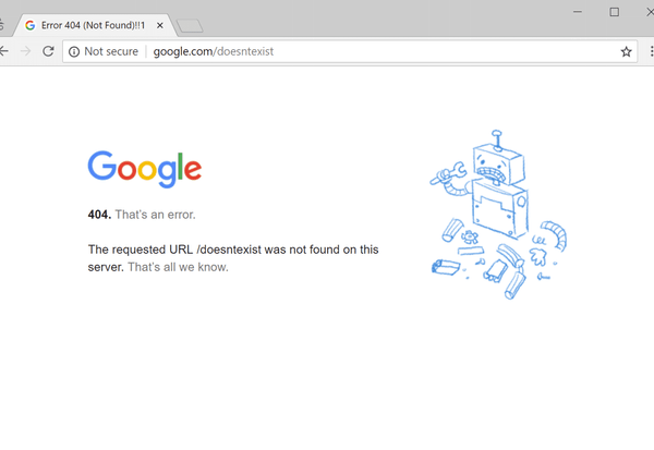 Was bedeutet Fehler »404«?
