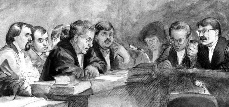 Wieso sieht man in Zeitungen immer Zeichnungen aus dem Gerichtssaal?