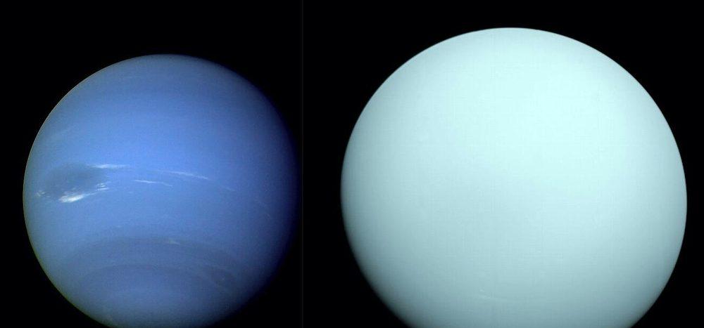 Die Außenseiter Uranus und Neptun