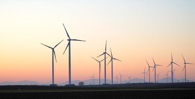 Drehrichtung von Windrädern