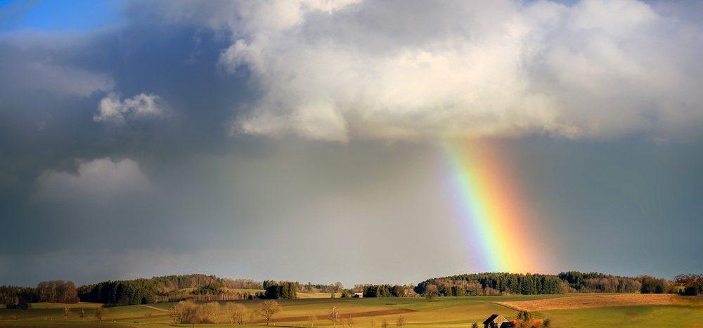 Wie nah kann man einem Regenbogen kommen?