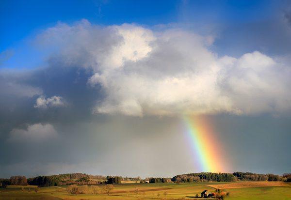Wo endet ein Regenbogen?