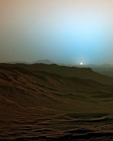 Dämmerung auf dem Mars