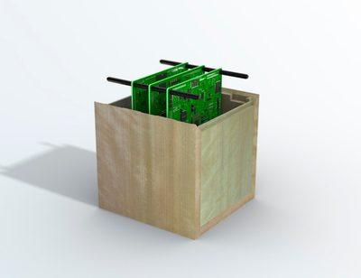 Satelliten aus Holz