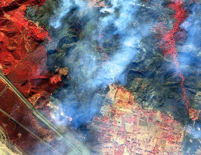 Satelliten bei Waldbränden?